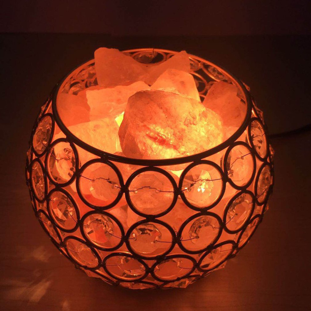 Beautiful Night Light Round Ball Shape Healthy Life Himalayan Natural Crystal Salt Light Air Purifying Himalayan Salt Lamp