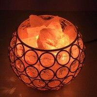 Beautiful Night Light Round Ball Shape Healthy Life Himalayan Natural Crystal Salt Light Air Purifying Himalayan Salt Lamp