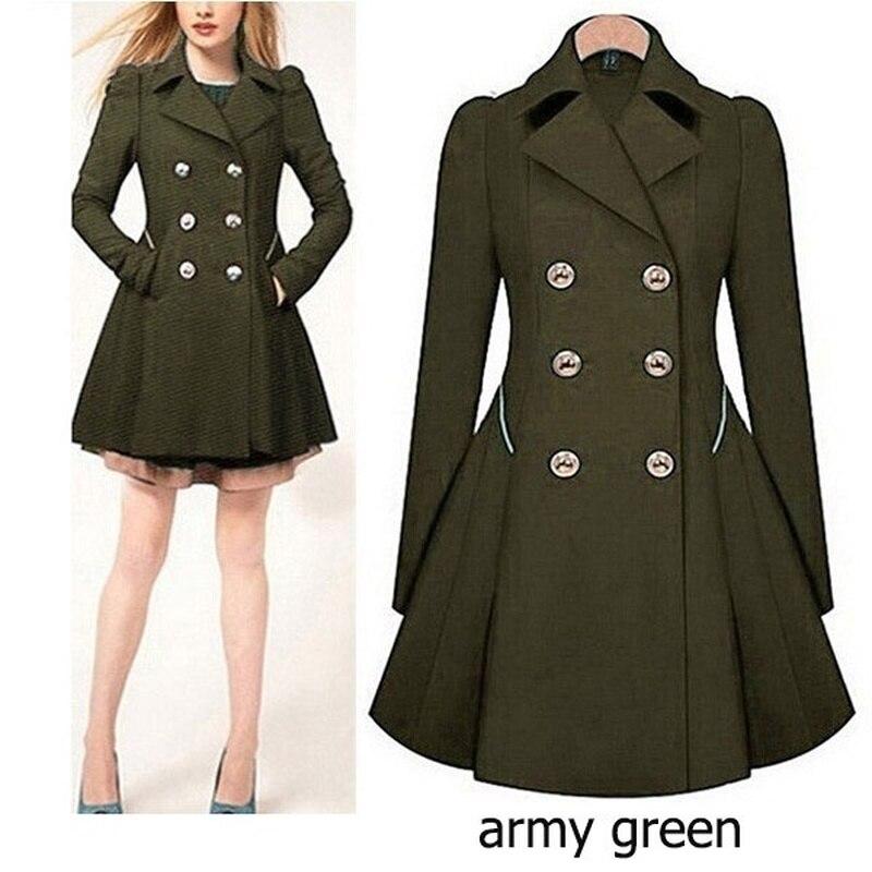 Zogaa Brand Plus Size   trench   coat women Autumn Women's Double breasted Warm Windbreaker Causal Long ladies   trench   coat femme