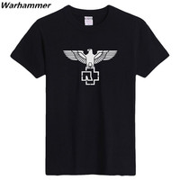 Rammstein Rock Heavy Metal Mens T Shirts Short Sleeved T Shirt Customized DIY Printed Shirts O