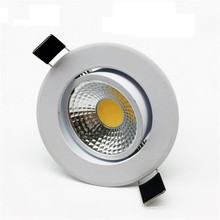 10pcs/lot Dimmable LED Downlight 7W 10W 12W 15W 85-265V COB spot light Spot Recessed lamp Light Bulb