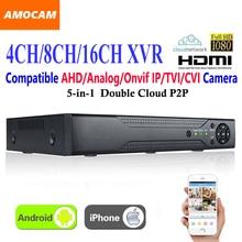 4CH 8CH 16CH ערוץ CCTV XVR וידאו מקליט כל HD 1080 P 5 ב 1 סופר DVR הקלטה תמיכה AHD/אנלוגי/Onvif IP/TVI/CVI מצלמה
