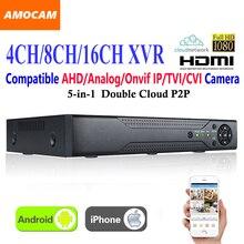 Grabador de vídeo CCTV XVR de 4 canales y 8 canales, 16 canales, todo HD 1080P, grabación súper DVR 5 en 1, compatible con AHD/analógico/Onvif IP/TVI/CVI