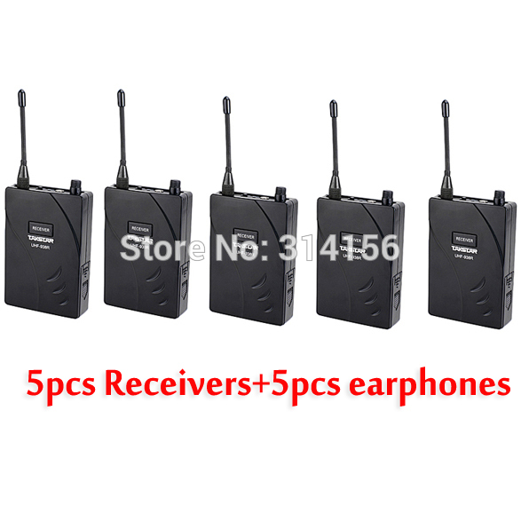 5PCS Lot Takstar UHF 938 Wireless Tour Guide System UHF frequency UHF 938 5 Receiver with