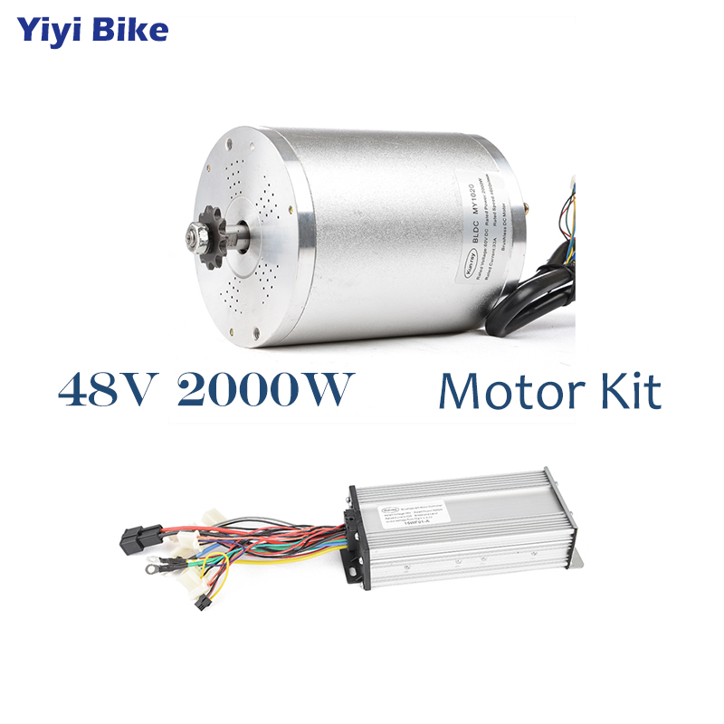 48V <font><b>2000W</b></font> 33A Electric Bike <font><b>DC</b></font> <font><b>Motor</b></font> <font><b>Brushless</b></font> <font><b>Motor</b></font> Controller Conversion Kit Electric Vehicle e bike Tricycle Engine Scooter image