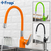 Frap kitchen faucets Silica Gel Nose Any Direction Brass Kitchen mixer sink faucet Cold and Hot Water tap Torneira Cozinha Crane