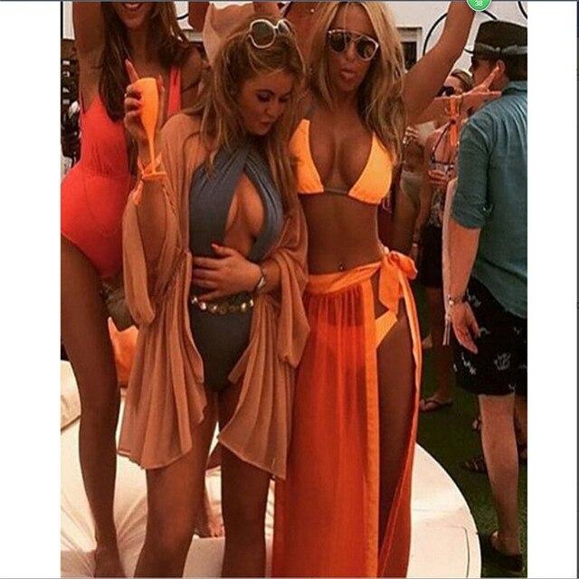 afbefa75c Women Sexy Chiffon Wrap Dress Sarong Pareo Beach Bikini Swimwear Cover Up  Scarf