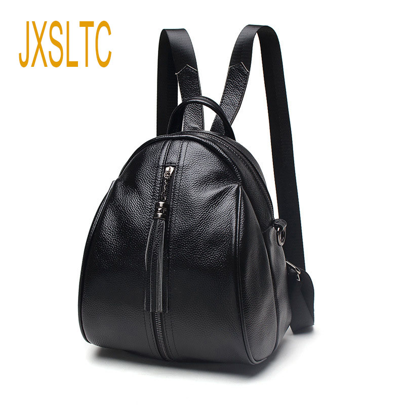 JXSLTC Fashion Women Small Backpack Famous Brand Lovely Bags Genuine Leather Mochila Escolar Schoolbags For adolescent Girls fashion new women students lovely canvas backpack college small cartoon print sathel multifunction travel bags mochila feminina