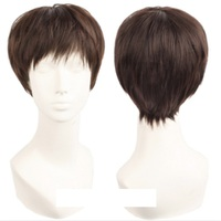 Takerlama High Quality Voltron Lance Wig Cosplay Costume Short Brown Hair Universal Wig For Men