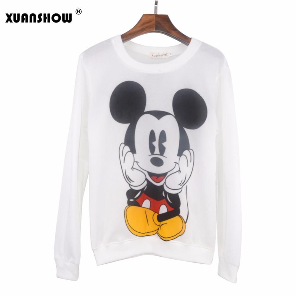 XUANSHOW 19 Women Sweatshirts Hoodies Character Printed Casual Pullover Cute Jumpers Top Long Sleeve O-Neck Fleece Tops S-XXL 10