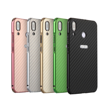 For ASUS Zenfone 5 ZE620KL Case Aluminum Metal Frame+Carbon Fiber Hard Back Cover for Phone Shell