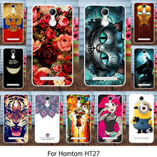 AKABEILA Silicone Phone Cover Case For Homtom HT27 HT 27 5.5 inch Cover Soft TPU Case Housing Flowers Rose Cat Housing Bag
