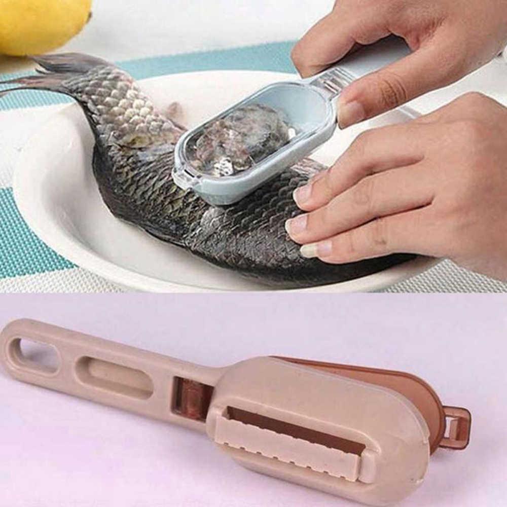 Di Vendita caldo Efficiente Pesce Bilancia Peeler Veloce Per Pulire il Pesce Della Pelle In Acciaio Raschietto di Plastica Da Cucina di Pesce Bilancia di Rimozione