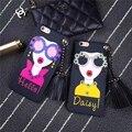 Itália Estilo de Moda de Luxo Menina Deusa Pingente de Borla Capa Phone Case para iphone 6 6 s 7 plus defender caso capa de silicone macio