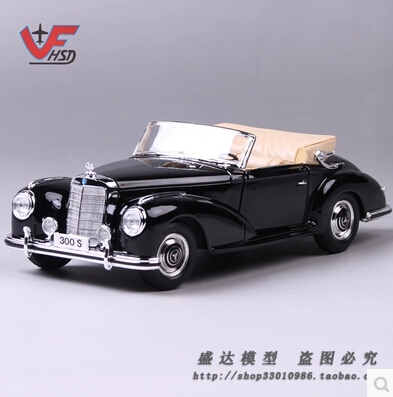 ФОТО 1955 Mercedes-Benz 300S Maisto 1:18 Alloy model car simulation kids toy black classic cars Convertible luxury car gift boy