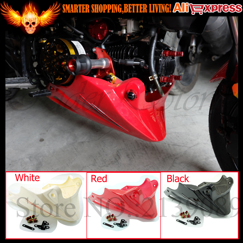 For Honda Grom MSX 125 2013 2014 2015 Black Red Engine Protector Guard Cover Under Cowl Lowered ...