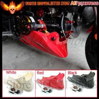 For Honda Grom MSX 125 2013 2014 2015  Black Red Engine Protector Guard Cover Under Cowl Lowered Low Shrouds Fairing Belly Pan Honda Grom