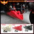 Para motor honda grom msx 125 2013 2014 2015 negro rojo Protector de la Cubierta Bajo Quilla Baja Bajo Cubiertas Carenado Cowl
