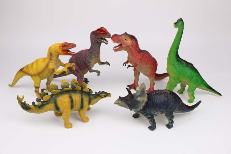 2929 Dilynosaur modèle jouet Jurassic imitation en plastique gomme molle t-rex enfants cadeau de 23 cm