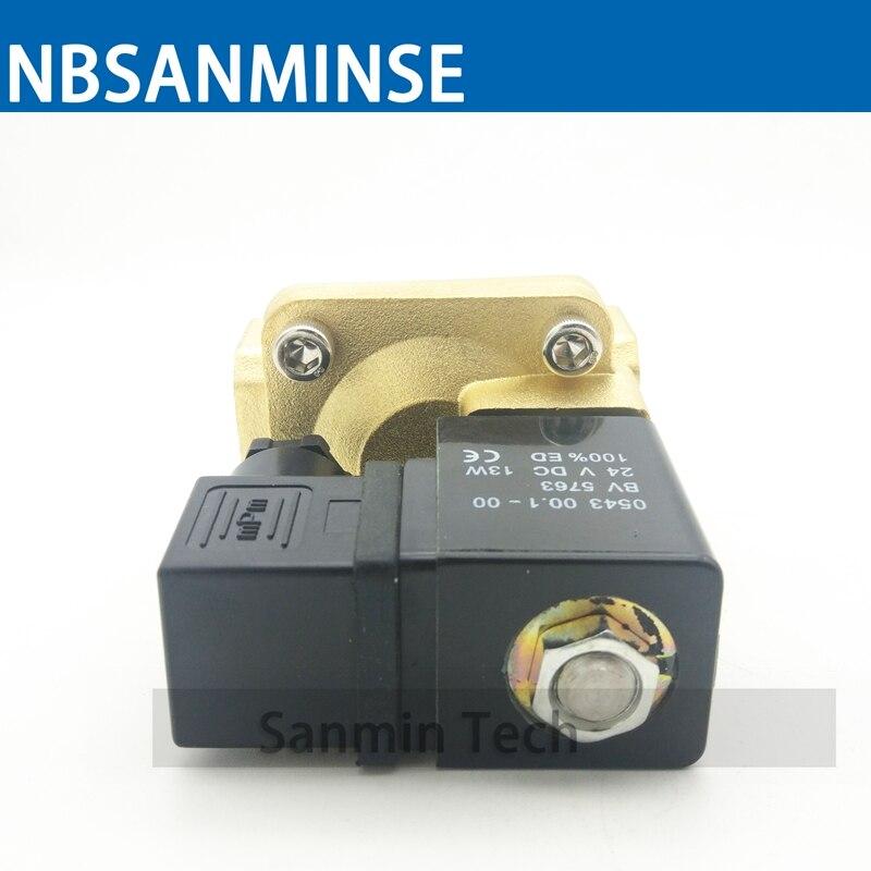 PU 225 Type 3/8 1/2 3/4 1 Electric Brass Water Solenoid Valve Low Pressure Air Water Pneumatic Steam On Best Sale Sanmin