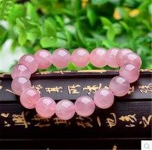 10mm Genuine Natural Rose Pink Quartz Bracelets For Women Femme Stretch Crystal Round Bead Bracelet Drop Shipping цены онлайн