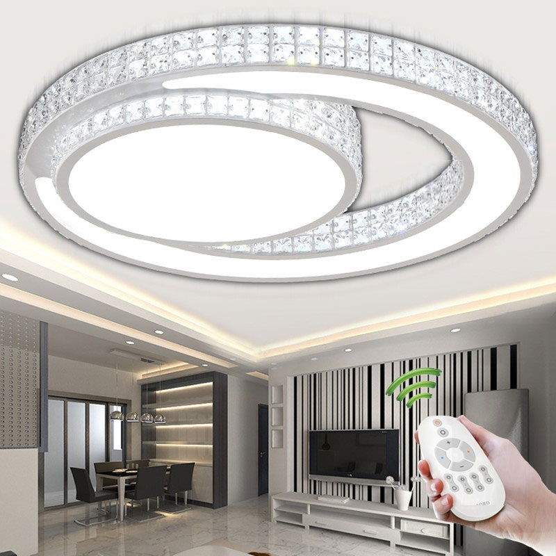 Ring Crystal Acrylic LED Ceiling Light Living room bedroom dining room home& business Di ...