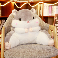 Hamster Style Cushion Home Decor Waist Pad Sofa Waist Support Backrest Cushion for Office Chair Kids Plush Toy Sleeping Pillows