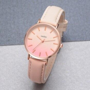 2018 nueva moda mujeres Retro arco iris de deporte de cuero relojes de  señoras vestido Casual reloj de pulsera de verano de mujer reloj de pulsera  reloj de35a8867177