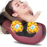 Cervical vertebra massage pillow neck waist back massager multifunctional body relax machine kneading massage pillow cushion