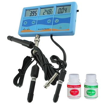 Multi-Function 6 In 1 Orp Mv Ph Cf Ec Tds Fahrenheit Celsius Meter Tester Thermometer Water Quality Monitor Eu Plug