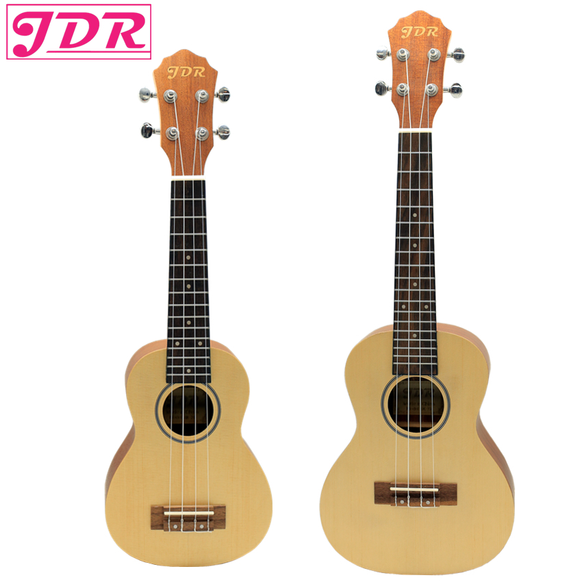 JDR 21 23 inches Ukulele Guitar Rosewood Spruce Panel 4 Strings Fingerboard Ukelele Banjo Music Instruments with Carrying Bag hlby good deal 17 mini ukelele ukulele spruce sapele top rosewood fretboard stringed instrument 4 strings with gig bag 2