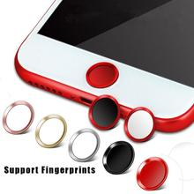 Support Fingerprint Unlock Touch Key ID Home Button Sticker Protector Keypad Keycap For IPhone 5s 5 SE 4 6 6s 7 Plus