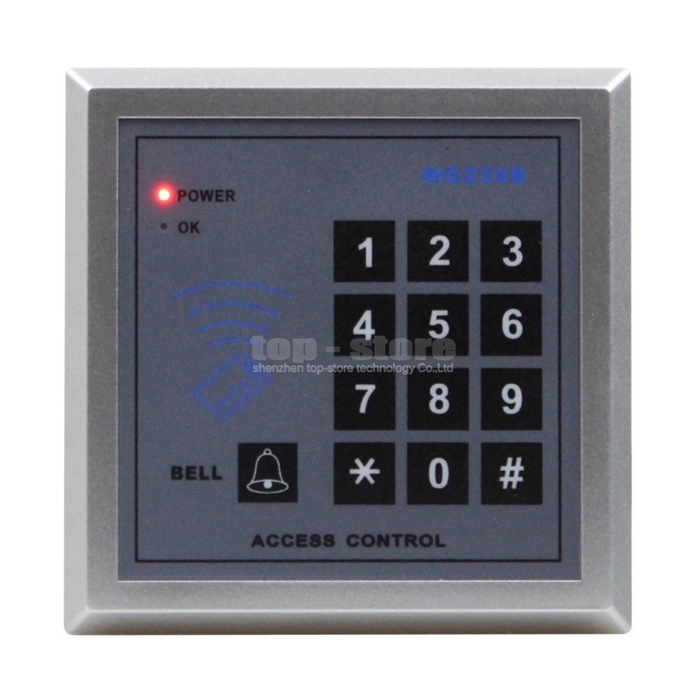 DIYSECUR Access Controller Keypad 13.56MHz RFID IC Cards Proximity Reader + 10 IC Card For House / Office / Home Improvement diysecur touch keypad 125khz rfid id card reader access controller kit for house office home improvement free shipping