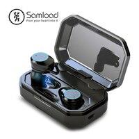 Samload 무선 헤드폰 5.0 블루투스 3D 깊은베이스 IPX7 IOS 안드로이드에 대한 3000 mAh 전원 은행과 야외 무선 이어폰