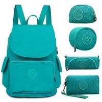 5 PCS/Set Casual Original Backpack Female School Backpack for Teenage Girl Backpack For Laptop Mochila Feminina kiple