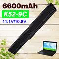 6600mAh laptop battery for Asus A31-B53 A32-K52 A31-K52 A41-K52 A42-K52 K52L681 A42f A42j A52J A52f  A52D F85 F86 K42 K52J K42J