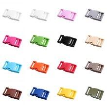"""10 шт./лот """" 25 мм Широкий контурный боковой выпуск для паракордового браслета пластиковая пряжка выбрать цвет"""