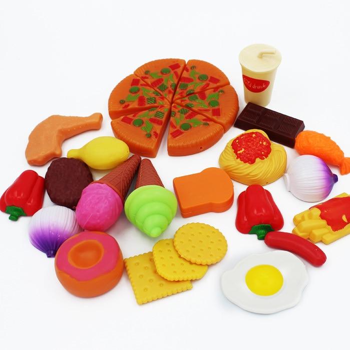 Play Food Toys : Pretend play kitchen onion food spaghetti kids bread