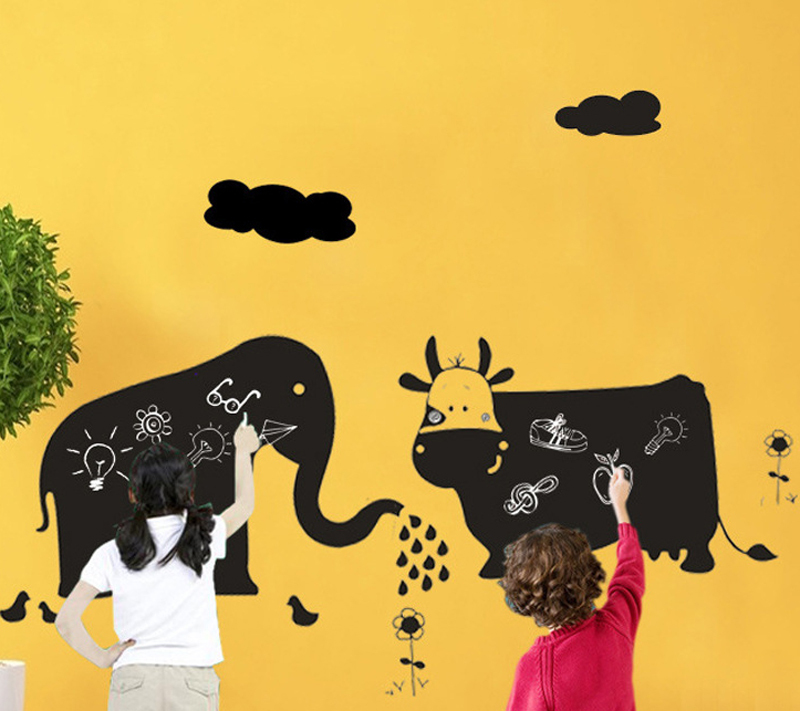 1pcs Cow Blackboard Temporary Wall Sticker Chalk Board Art Decals ...