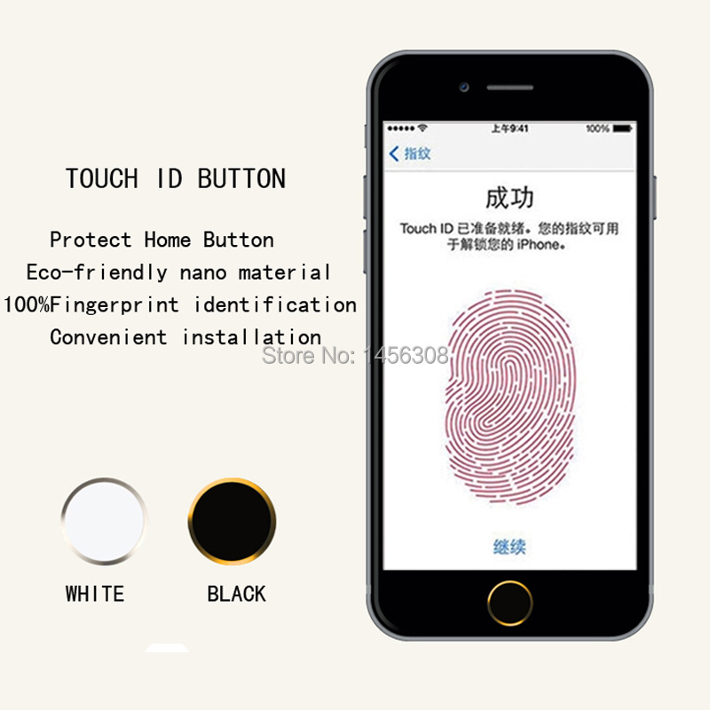 get cheap 66729 951e7 US $2.78  Wholesale Home Button Sticker for iphone 6 &plus White/Black Ring  Button Support Fingerprint Indentification function-in Mobile Phone ...