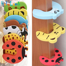 7Pcs/Lot Animal Baby Security Door Card Protection Tools Safety Gate Products Newborn Care Cabinet Locks Straps