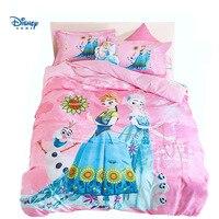 pink girls disney Frozen Elsa Anna comforter bedding set queen size bed sheet set adult bedroom decor twin pillowcase double hot