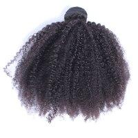 Афро кудрявый вьющиеся волосы Связки перуанский Девы Инструменты для завивки волос 100% человеческих Химическое наращивание волос натураль...