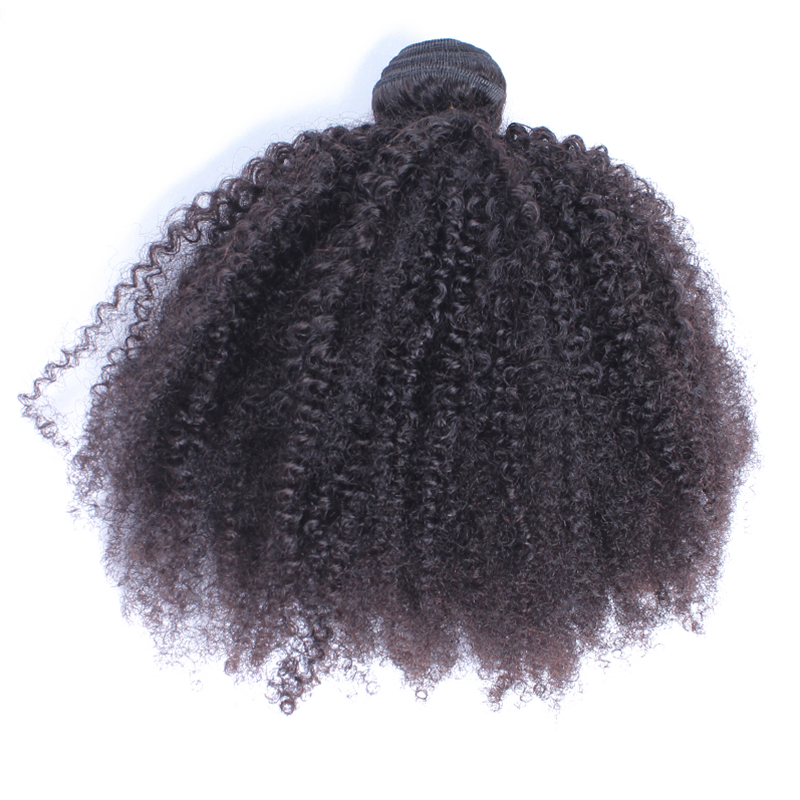 Afro Kinky Curly Hair Weave Bundles Peruvian Virgin Hair Weaving 100% Human Hair Extension Natural Color Prosa One Piece