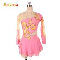 Nasinaya Figure Skating Dress Customized Competition Ice Skating Skirt for Girl Women Kids Patinaje Gymnastics Performance 75