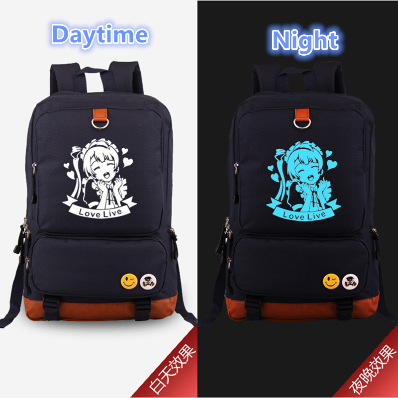 2017 New Anime Love Live Luminous Backpack Cosplay Minami Kotori Printing Laptop Backpacks Bag School Bags Bookbag Travel Bags 2017 new masked rider laptop backpack bags cosplay animg kamen rider shoulders school student bag travel men and women backpacks