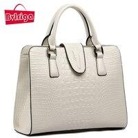 2015 New Crocodile Pattern Leather Handbags Brand First Layer Of Leather Handbag Shoulder Bag Commuter Bag