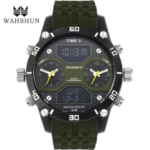 2016 Luxury Brand Military Watches Men Quartz Analog Double movement Clock Man Sports Watches LED Army Watch Relogio Masculino