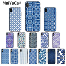 MaiYaCa Blue white texture Customer High Quality Phone Case for iPhone X XS MAX 6 6S 7 7plus 8 8Plus 5 5S XR недорого