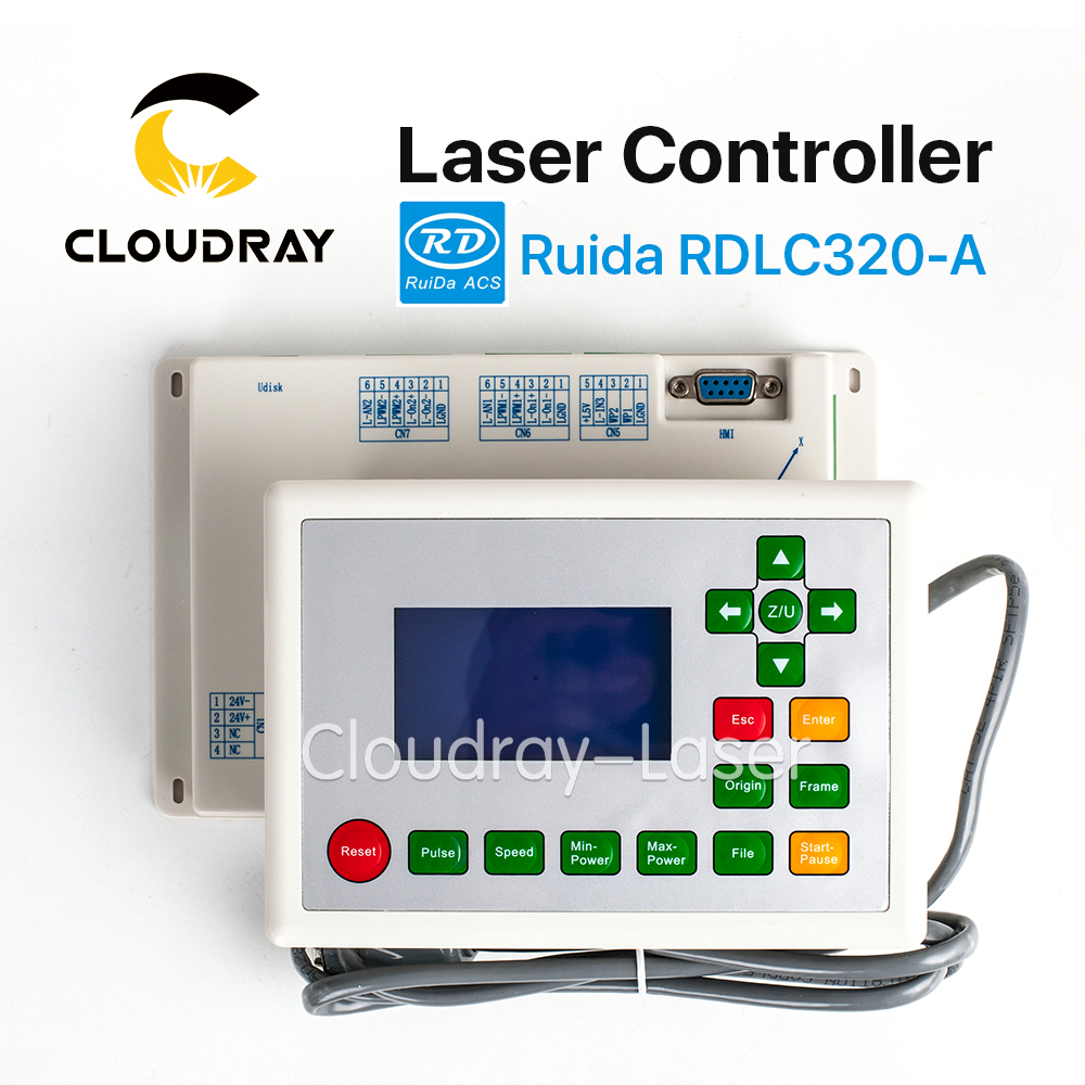 Cloudray Ruida RD RDLC320-A Co2 Laser DSP Controller for Laser Engraving and Cutting Machine RD320 320 cloudray leetro operation panel pad04 e co2 laser controller system for laser engraving and cutting machine